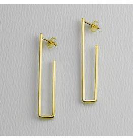 Straight Up Golden Post Earring