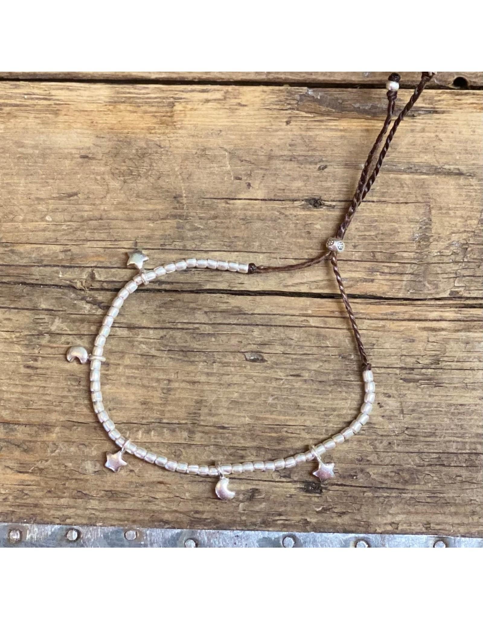 Karen Hill Tribe, Sterling, Star and Moon Bracelet
