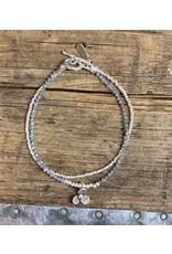 Karen Hill Tribe, Sterling, Flower Child Bracelet