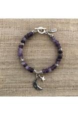 Karen Hill Tribe, Amethyst Moon Bracelet