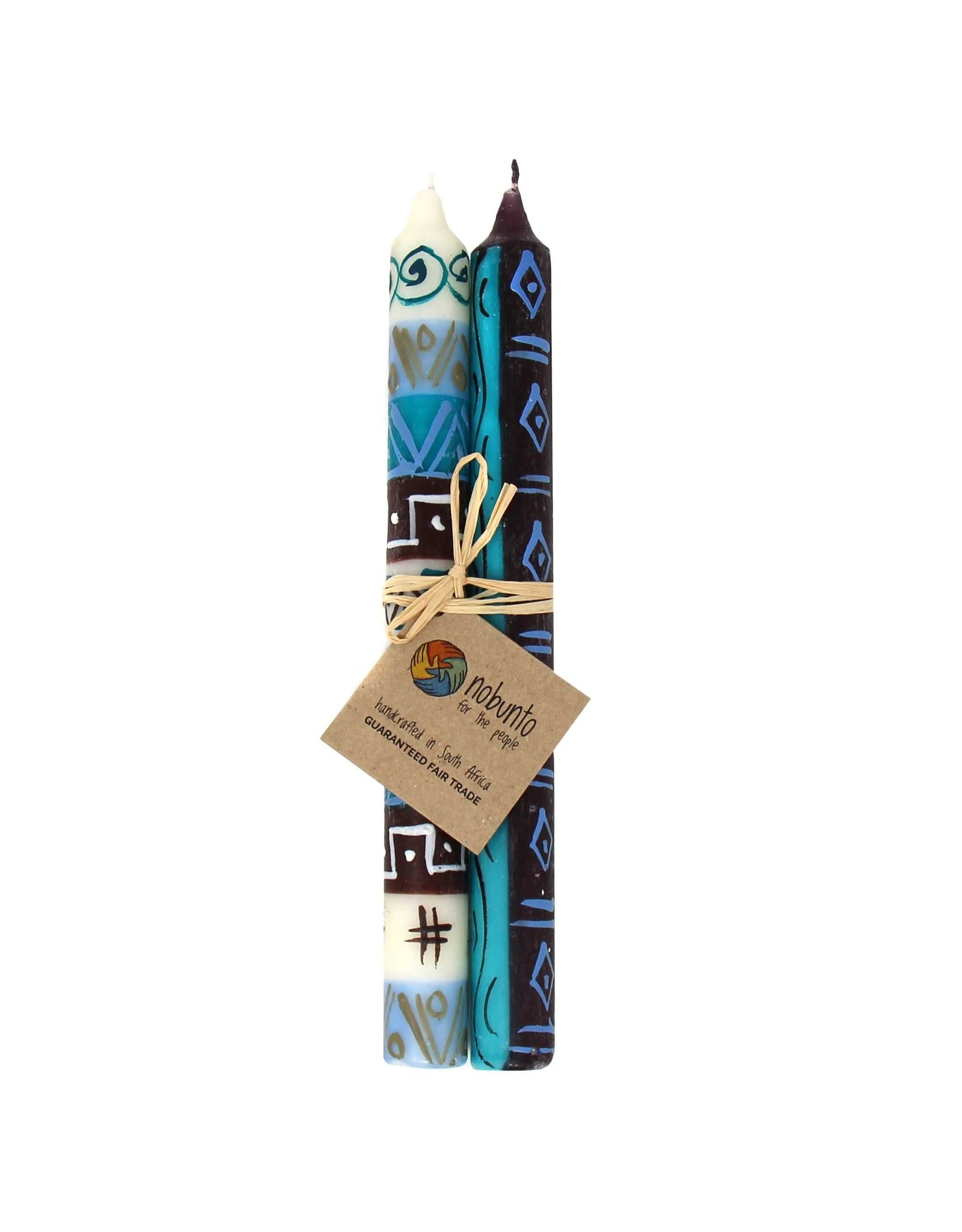 Hand Painted Taper Candles, Maji Design