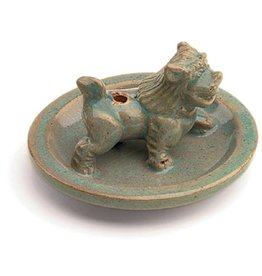 Incense Burner - Glazed Snow Lion, Nepal