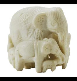 Stone Elephant Family, Nepal