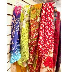 Sari Fabric Wrap & Square Scarf