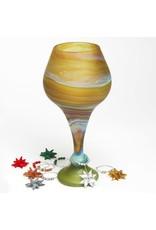 West Bank, Phoenecian Glass Goblet (Greens)