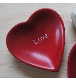 Love Heart Soapstone Dish,  Kenya