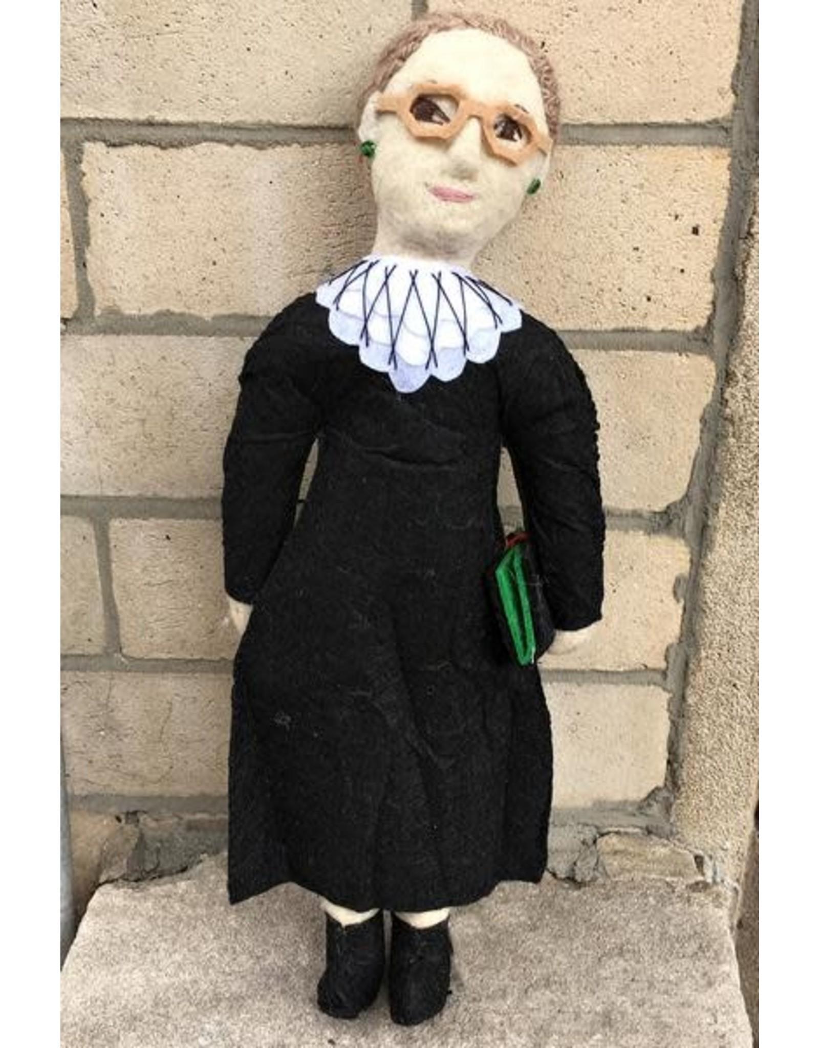 Historical Felt Dolls Ruth Bader Ginsburg, Kyrgyzstan