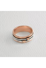 Sterling Copper Hearts Rings