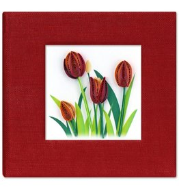 Quilled Post It Notes Cover, Red Tulip, Vietnam