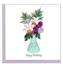 Birthday Flower Vase  Quilling Card, Vietnam
