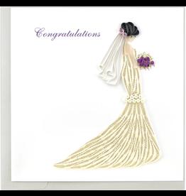 Bridal Shower White Gown, Quilling Card, Vietnam