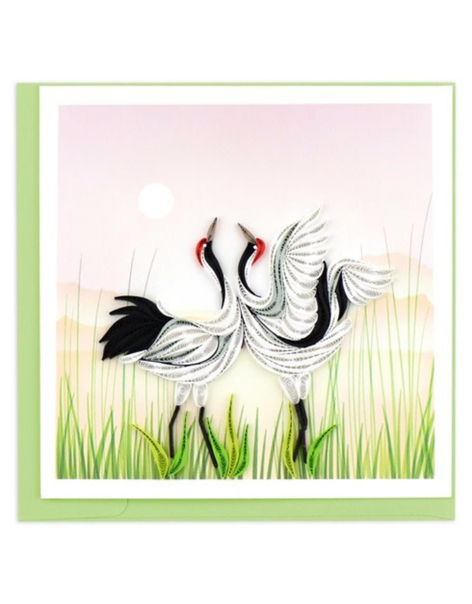 Cranes Quilling Card, Vietnam
