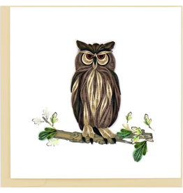 Great Horned Owl Quilling Card, Vietnam