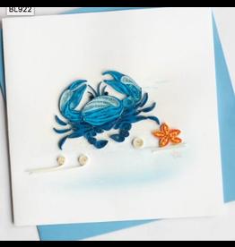 Blue Crab Quilling Card, Vietnam