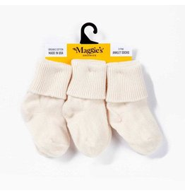 Natural, 100% organic ankle socks