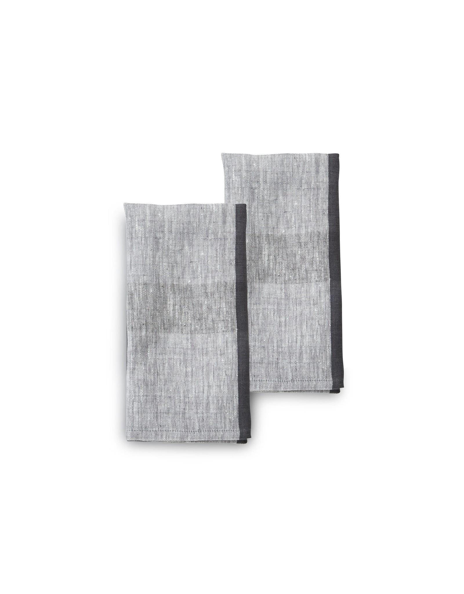20 x 20  Linen Napkins, Set of 2, High Tea, India