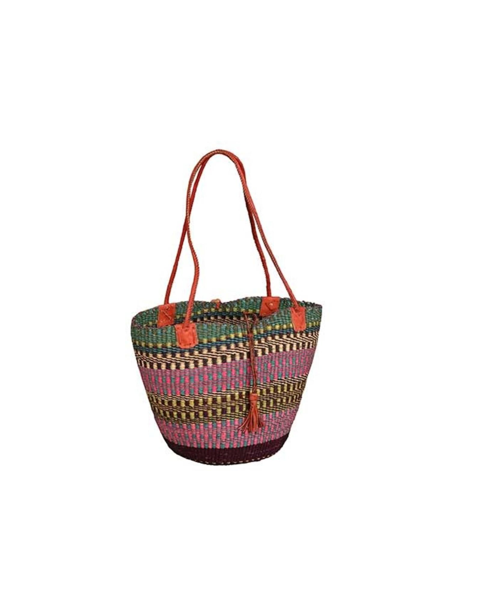 Ghana Woven Grass Shoulder Bag, Africa