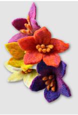 Crocus Like  Felt Flowers, Assorted Colors, Nepal