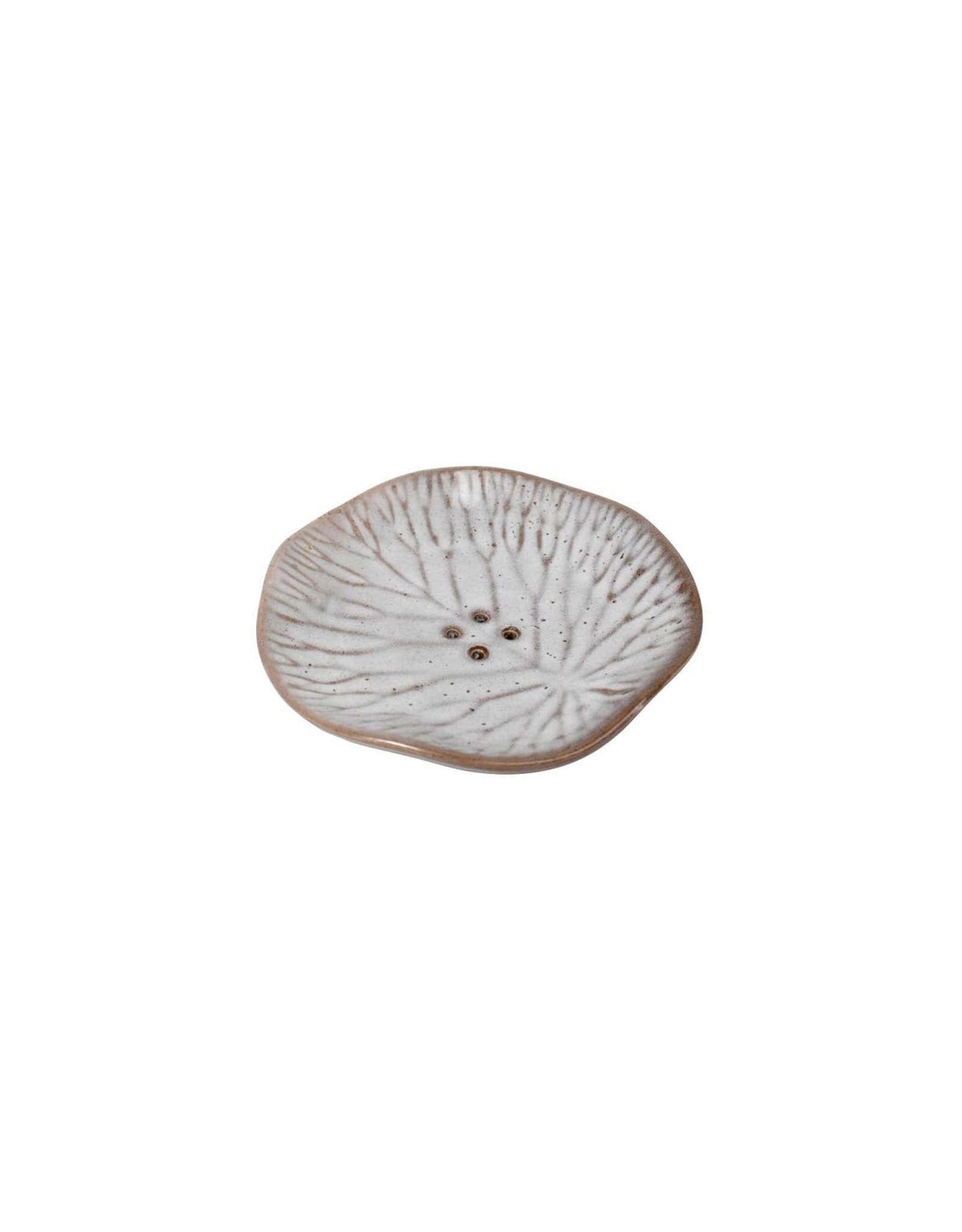 Ceramic Lily Pad Soap Dish, Indonesia