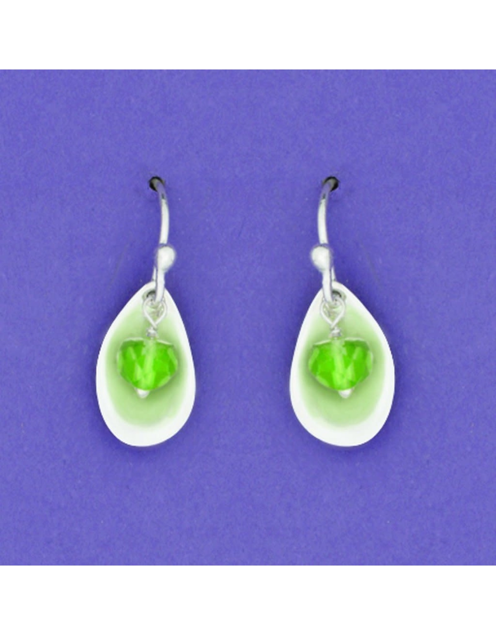 Sterling Silver Drop with Peridot Wire, Mexico