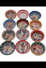 """3"""" Hand Painted Garden Ceramic Bowl, Turkey"""
