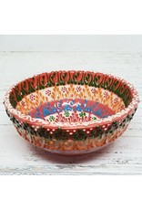 "3"" Hand Painted Ceramic Lace Bowl, Turkey"