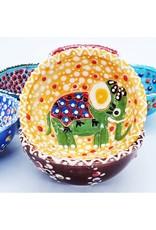 "3"" Hand Painted Ceramic Animal Bowl, Turkey"