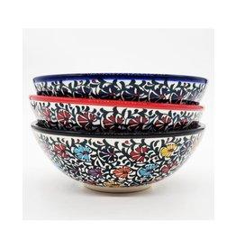"""8"""" Relief Turkish Ceramic Bowl, Turkey"""