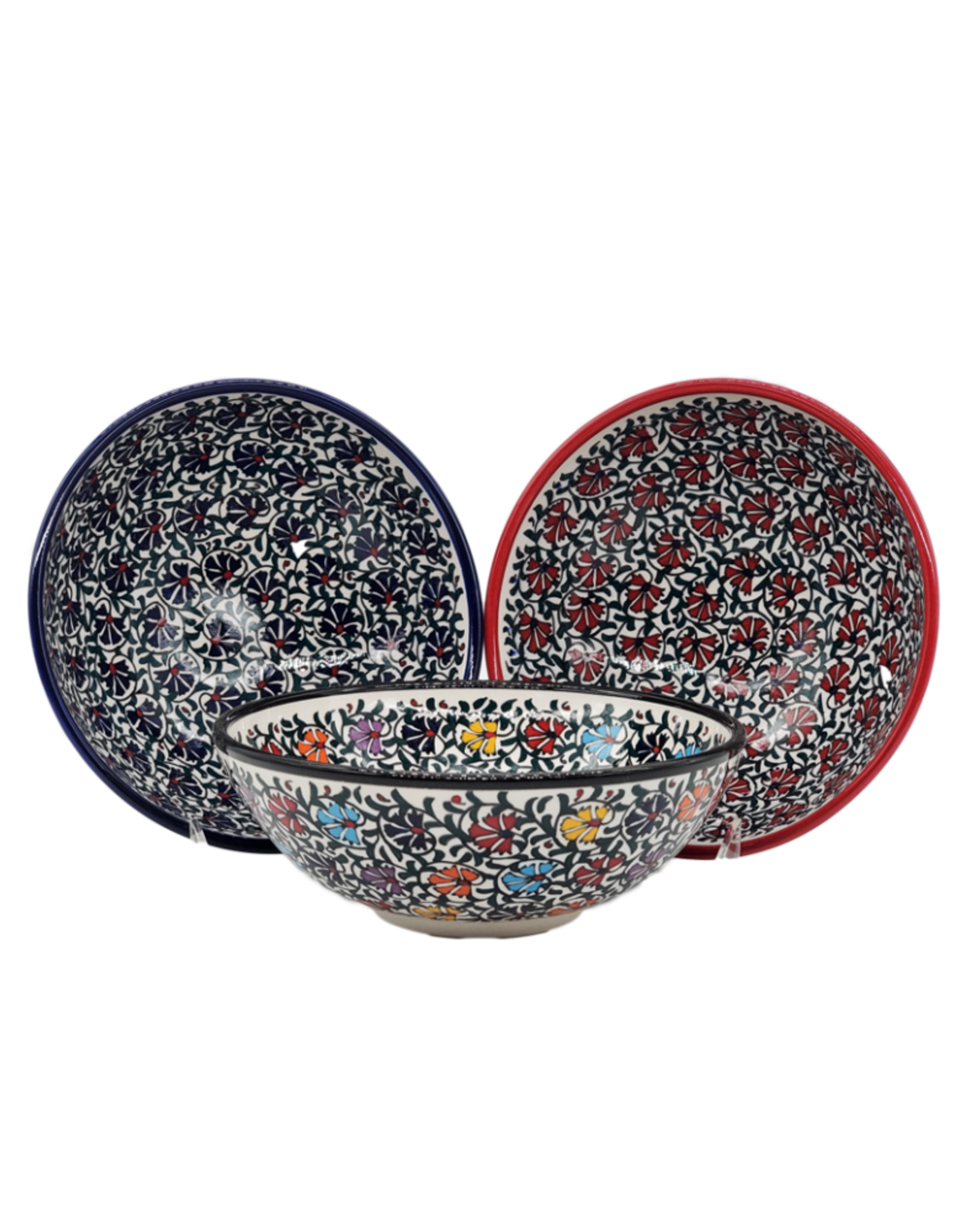 "8"" Relief Turkish Ceramic Bowl, Turkey"