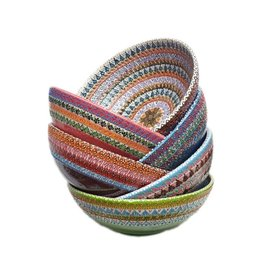 "8"" Hand Painted  Lace Ceramic Bowl, Turkey"