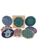 Hand Painted Ceramic Coasters Set of 4, Turkey