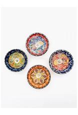 "Iznik 3"" Ceramic Bowl w/Candle (sold individually)"