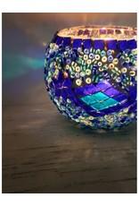 "2"" Turkish Mosaic Votive Candle Holder, Turkey"