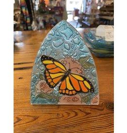 Hand Blown Glass Nightlight, Monarch Butterfly, Ecuador
