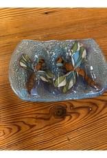 Hand Blown Glass Soap Dish, Dragonfly, Ecuador