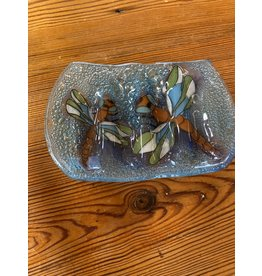 Hand Blown Glass Soap Dish, Dragonfly, Ecuador