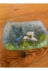 Hand Blown Glass Soap Dish, Hummingbird, Ecuador