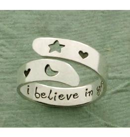 I Believe in You Sterling Adjustable Ring, Mexico