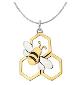 Honeybee Sterling Necklace, Mexico