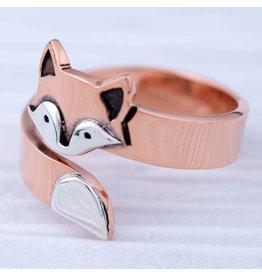 Fox Hugger Ring, Adjustable, Mexico