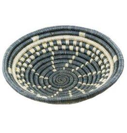 Agaseke Woven Bowl Basket, Dark Gray/White