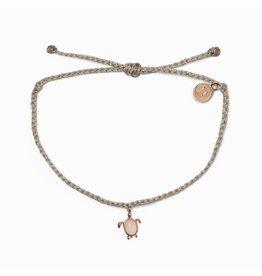 Pura Vida Sea Turtle Rose Gold Bracelet, Light Grey