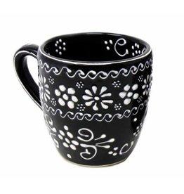 Encantada Handmade Pottery Mug, Ink, 12 oz