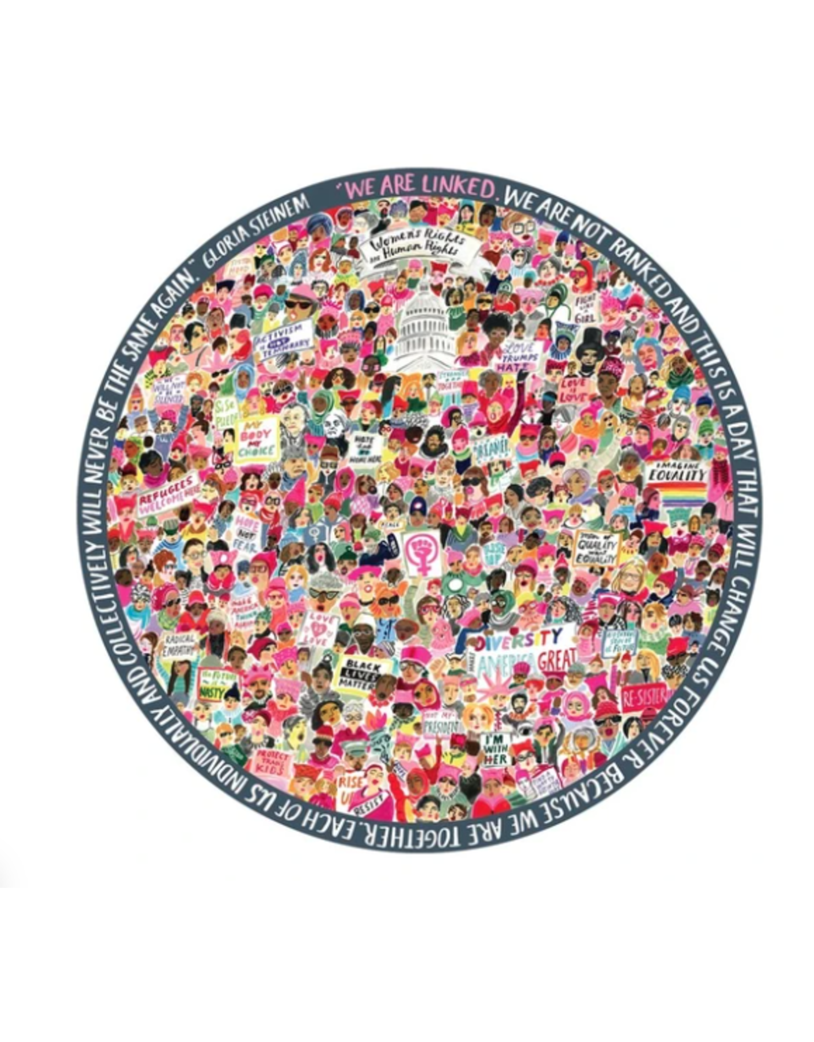 Women's March Puzzle, 500 Pieces, ROUND