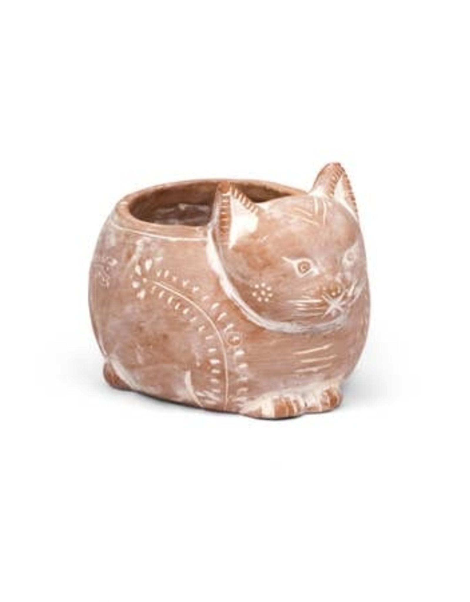 Terracotta Cat Planter, Bangladesh
