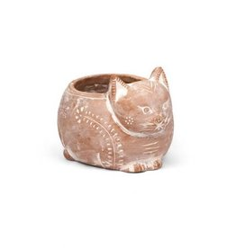 Terracotta Cat Planter, Bangladesh