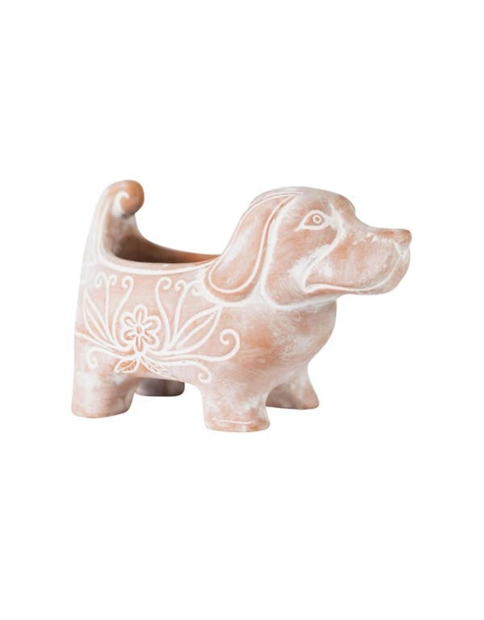 Terracotta Dog Planter, Large, Bangladesh
