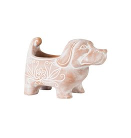 Terracotta Dog Planter, Large, Bangladesh