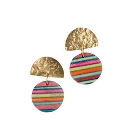 Rainbow Striped Earrings, India