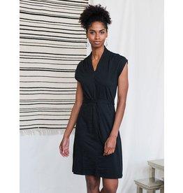 Mid Town Dress, Organic Cotton, Black